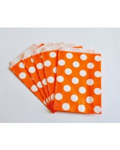Orange Polka Dot Favor Bag