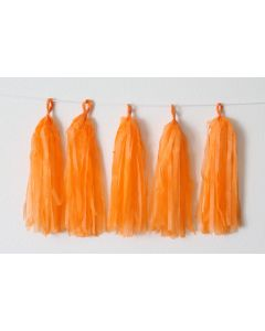 Orange Tassel Garland
