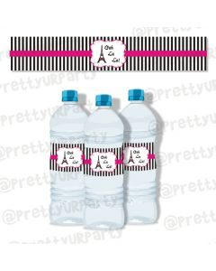 paris water bottle labels