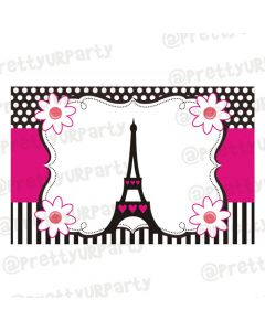 Paris themed table mats