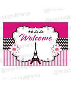 paris themed welcome banner