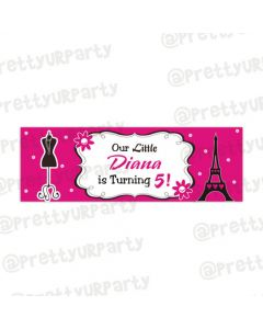 Personalized Paris Inspired banner