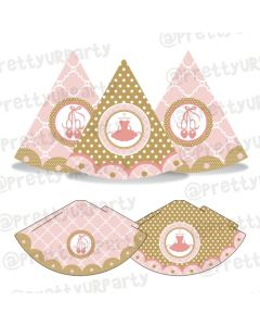 Pink and Gold Ballet Hats