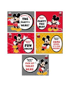 Mickey Mouse Party Signs
