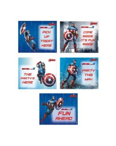 Captain America Party Signs