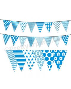 Blue Pattern Bunting