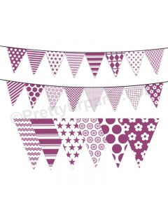 Purple Pattern Bunting