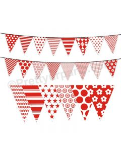 Red Pattern Bunting