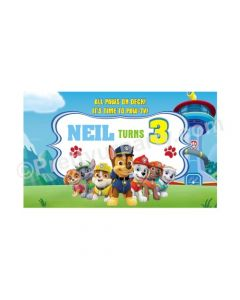 Paw Patrol Blue Theme Backdrop