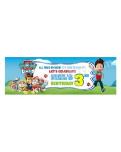 Personalized Paw Patrol Blue Theme Banner 30in
