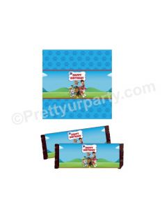 Paw Patrol Blue Theme Chocolate Wrappers