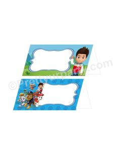 Paw Patrol  Blue Theme Food Labels / Buffet Table Cards