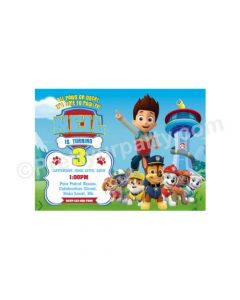 Paw Patrol Blue Theme E-Invitations