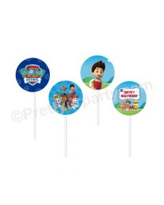 Paw Patrol Blue Theme Cupcake / Food Toppers