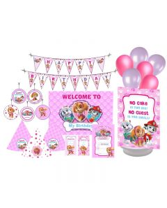 Paw Patrol Pink Party Decorations