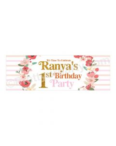 Personalized Fun To Be One Theme Banner 36in
