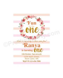 Fun To Be 1 Theme Invitations