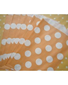 Peach Polka Dot favor bags - Pack of 12