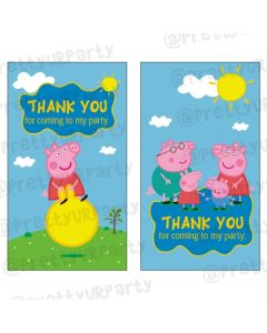 Peppa pig Inspired Thankyou Cards