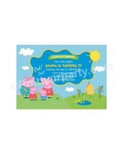 Peppa pig Inspired E-Invitations