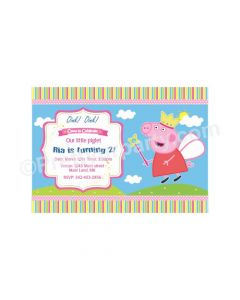 Peppa pig Inspired E-Invitations -01