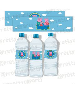 Peppa pig bottle labels