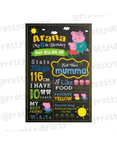 Peppa Pig Inspired Chalkboard Poster