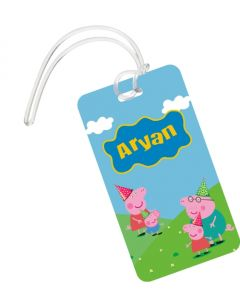 Peppa Pig Theme Luggage Tag