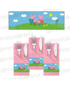 Peppa pig Inspired Napkin Rings