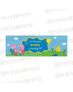 Personalized Peppa Pig Banner without pic