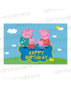 Peppa pig Inspired Table Mats