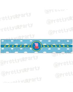 Peppa pig Inspired Wrist Bands