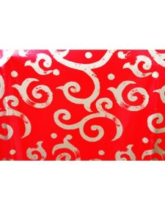 red swirls double sided wrapping paper