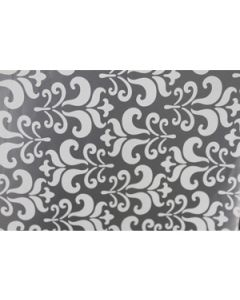 silver damask wrapping paper