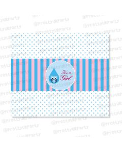 Pink and Blue Chocolate Wrappers