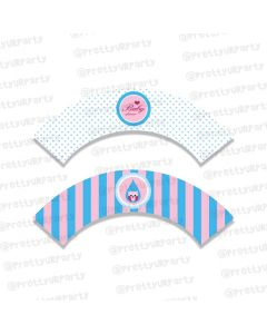 Pink and Blue  Cupcake Wrappers
