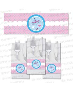 Pink and Blue Napkin Rings