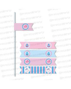 Pink and Blue Drink Straws