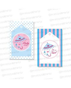 Pink and Blue Thankyou Cards