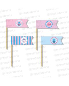 pink and blue theme picks