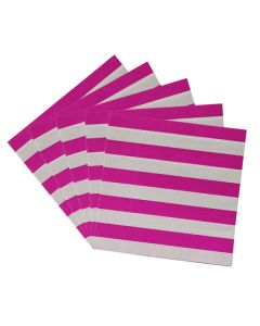 Pink Stripes Paper Napkins
