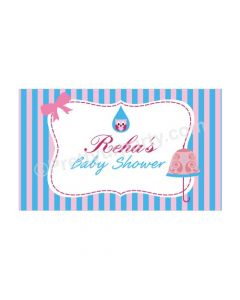 Pink and Blue Baby Shower Theme Backdrop