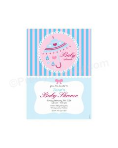 Pink and Blue E-Invitations