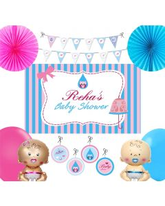 Pink and Blue Baby Shower Party Decorations