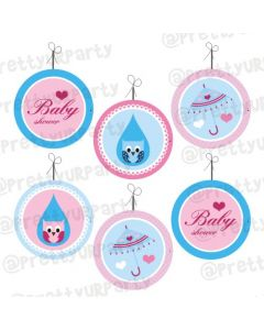 Pink and Blue Danglers