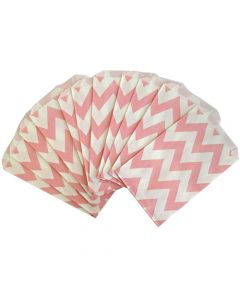 Pink Chevron  Favor  Bag -Pack of 12