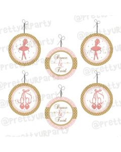 Pink and Gold Ballet Danglers