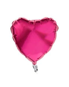 "Pink Heart shaped 5"" Foil Balloons - Pack of 5"