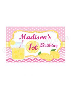 Pink lemonade 1st Birthday Theme Backdrop