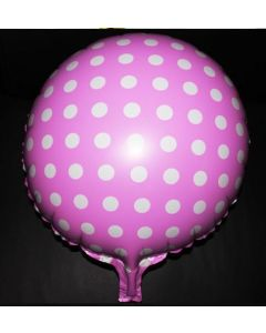 Pink small polka dots foil balloon